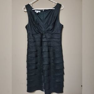 London Times Ruffle Sleeveless Dress